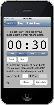 iPhone Calories Burned Calculator