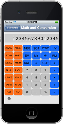 iPhone Math and Conversion Calculator